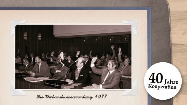 Zustimmung bei einer der ersten Sitzungen der Verbandsversammlung im Jahr 1977