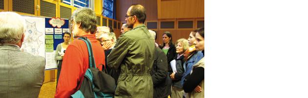 Diskussion beim Workshop Nord-West in Leopoldshafen