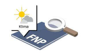 Blick mit der Lupe auf das Themenfeld Klima