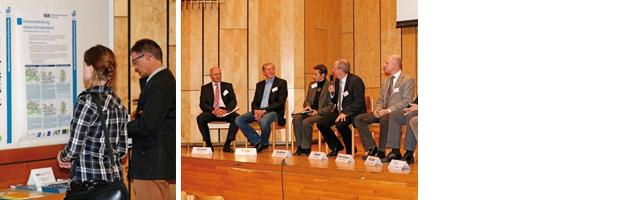 Teilnehmer beim Informieren und Diskutieren